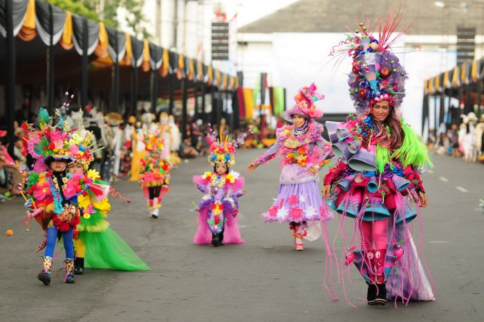 Карнавал «Jember Fashion Carnaval» в Индонезии