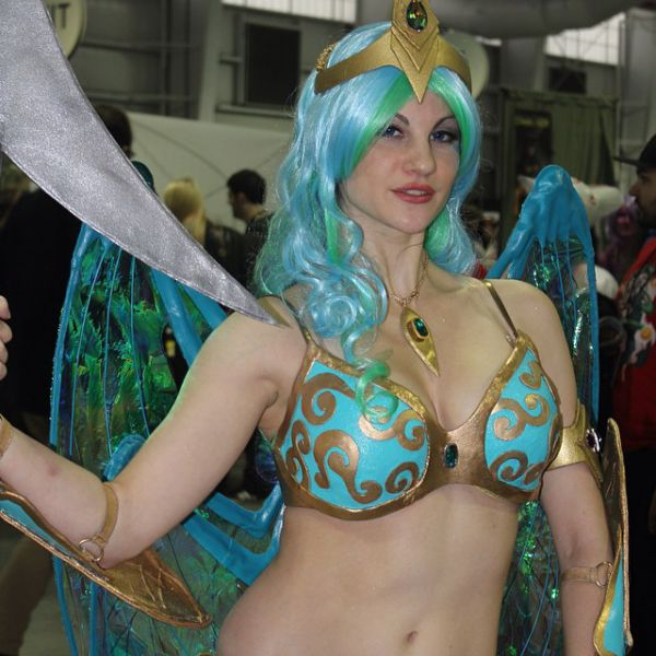 Косплейщицы на фестивале New York City Comic Con 2014