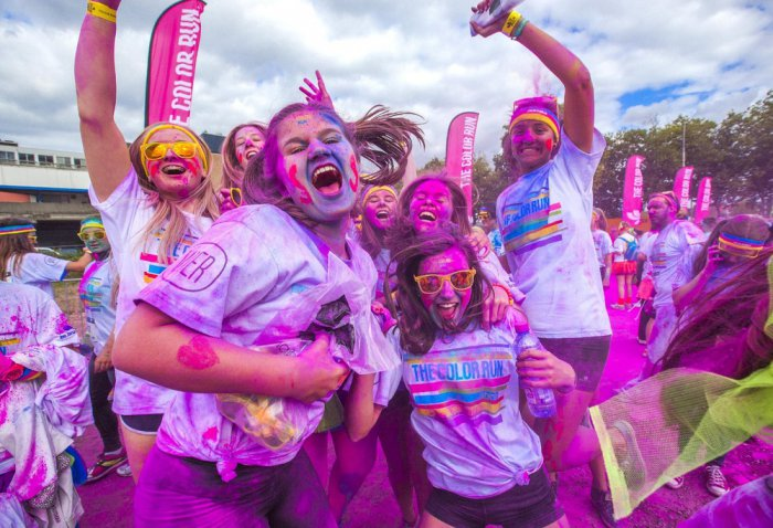 Забег The Color Run в Бельгии