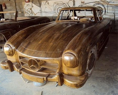 Деревянный Mercedes-Benz 300SL Gullwing 1955 eBay, Mercedes-Benz, автомобиль, их дерева